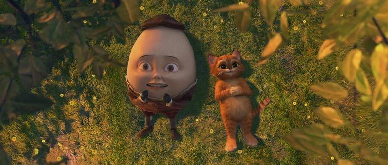 Мультик кот сапогах и яйцо